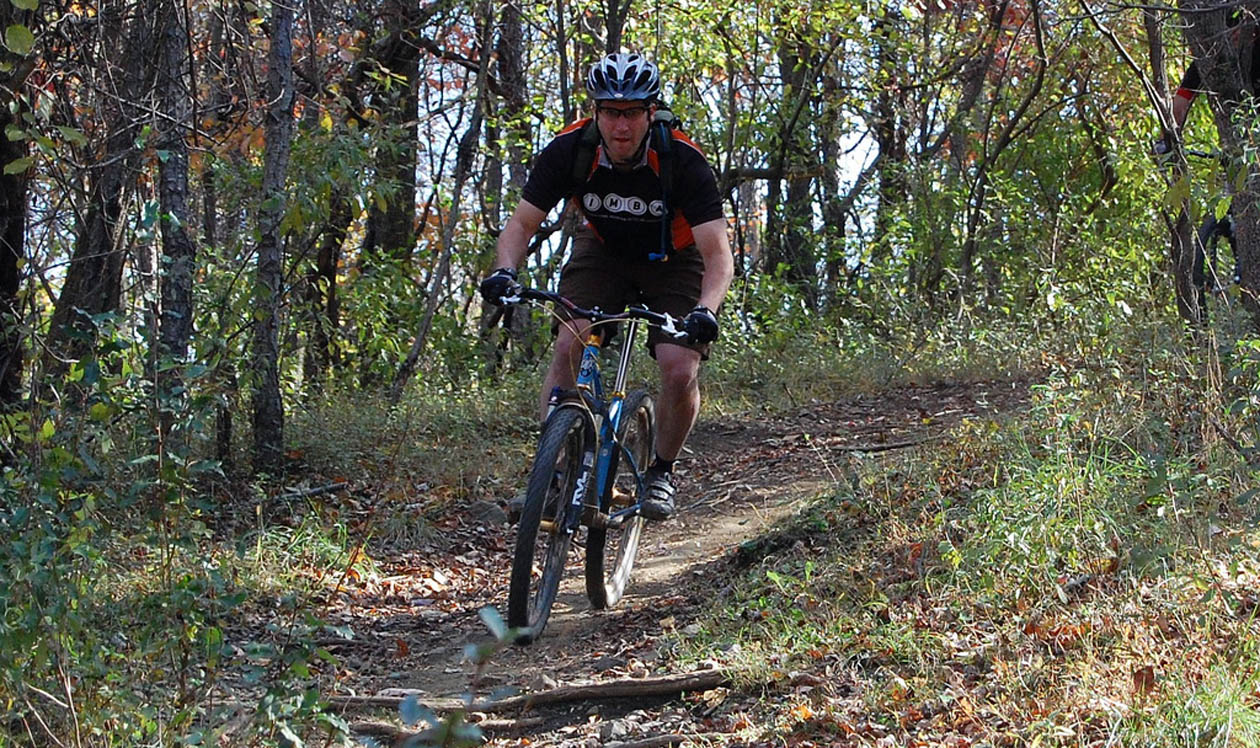 Sweet Singletrack at the Bootlegger's Bliss 11/1/08 (pic: Donna)