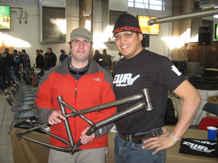 Carey and Jay at the Stop Swap and Save 02.08 with his frame pre paint
