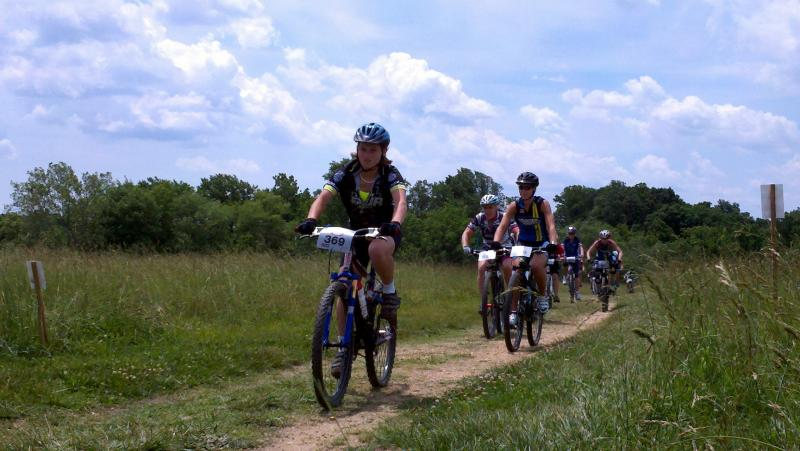 Gritty Gabby takes the lead at the Fairhill Bike Line race on 6.3.12
